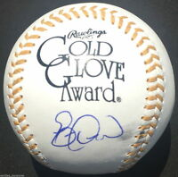 ERIC DAVIS SIGNED GOLD GLOVE BASEBALL CINCINNATI REDS CARDINALS ORIOLES PROOF J1