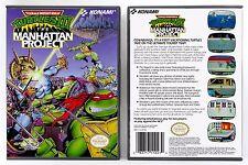 Teenage Mutant Ninja Turtles III 3 Manhattan Project - NES Custom Case *NO GAME*