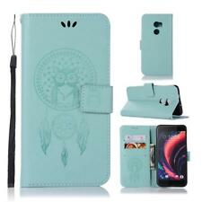 For HTC One X10/ HTC U11  Retro Leather Stand Flip Wallet Cover Card Slots Case