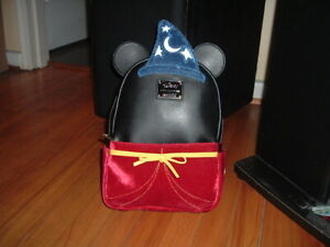 LOUNGEFLY DISNEY MICKEY MOUSE FANTASIA MINI BACKPACK~ WITH TAGS~LIGHTS UP~