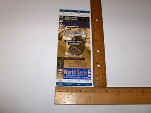 ORIGINAL 1995 ATLANTA BRAVES GAME 7 UNUSED WORLD SERIES TICKET WITH STUB