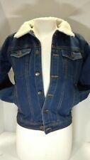 BOCINI Fur Lined Winter Warm Coat Denim/Jean Casual Jacket Trucker Collar