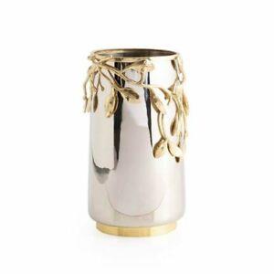 "Michael Aram Laurel 13"" Stainless Steel Vase 01699"