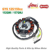 TZ-13 125cc 150cc Stator 11 Pole Magneto Coil Triphase GY6 Parts Chinese Scooter