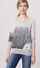 Anthropologie HWR Monogram Fluffed Hedgie Hedgehog Pullover Sweater Medium