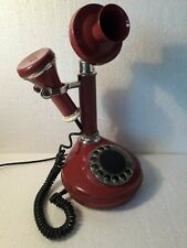 Soviet Union disk rotary phone Red . USSR Vintage