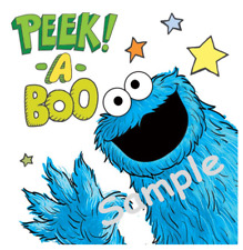 """Cookie Monster Iron On Transfer 5x5"""" for LIGHT-Colored Fabric"""