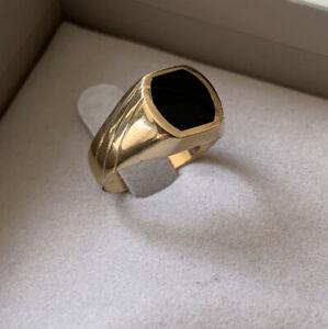 Herrenring Siegelring aus 585 Gold Echtschmuck Goldring 14K