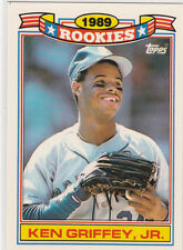 KEN GRIFFEY JR Topps ROOKIE BASEBALL CARD 1989 Rookies Seattle Mariners JUNIOR!