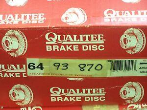 Qualitee R93870 Front Disc Brake Rotor fits Chevrolet Corvette LT1 LT4 ZR1