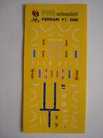 DECALS F1 KIT FERRARI F1 86 GP BRASILE 1986 ALBORETO-JOHANSSON NEW