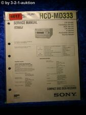 Sony Service Manual HCD MD333 Compact System (#4617)