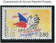 TIMBRE FRANCE OBLITERE N° 2947 SECOURS POPULAIRE / Photo non contractuelle
