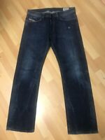 NWOT Mens Diesel VIKER DISTRESSED Denim 0RM80 Dark BLUE RELAXED W34 L32 H8.5