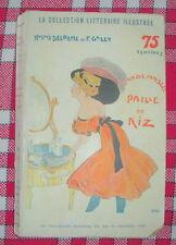 LITTERATURE POPULAIRE : MADEMOISELLE PAILLE DE RIZ ILLUSTRE ZYG BRUNNER 1910