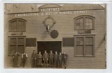 More details for valentine's engineering & motor hiring depot: perthshire postcard (c55007)