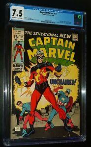 CAPTAIN MARVEL #17 1969 Marvel Comics CGC 7.5 VF- Stan Lee !