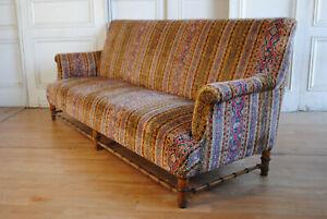 Antique C19th French Napoleon III Era Canapé  Sofa Faux Bamboo Base L2.2m