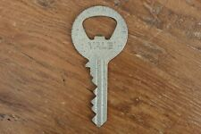 Yale Locks and Hardware Key Shaped Steel Bottle Opener Rare