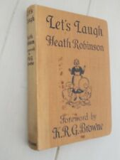 Heath Robinson Let's Laugh 1st/1st 1939 Humorous Inventions Illustrations 80 yrs
