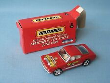 Matchbox 1965 Ford Mustang Hershey 1999 Red Body USA Muscle Toy Model Car 70mm
