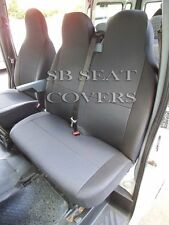 TO FIT A FORD TRANSIT VAN 2008, SEAT COVERS, DARK RAVEN, 1 SINGLE 1 DOUBLE
