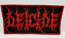 DEICIDE ( red  logo & red border )  EMBROIDERED PATCH