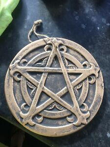 Pentagram Latex Rubber Mould Mold Wall Plaque Witches Fairy Garden