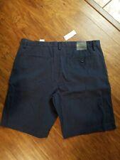 NWT Men's Banana Republic Navy Aiden Slim Fit Shorts Size 36