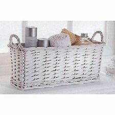 Wicker Contemporary Rectangular Decorative Baskets