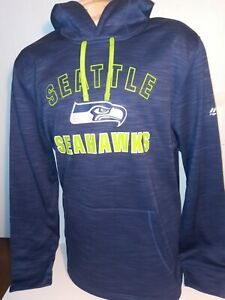 Seattle Seahawks TX3 WARM Hoodie Sweatshirt by Majestic & NFL Team Apparel Sz XL