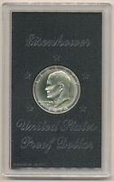 1974-S Silver Eisenhower IKE Dollar Proof Mint Halo Toning in brown box Toned