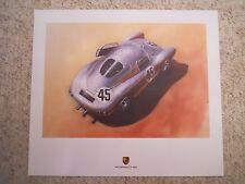 1953 Porsche 550 Light Metal Coupe Showroom Advertising Sales Poster RARE!! L@@K