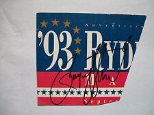 PAYNE STEWART PGA JSA cert signed 1993 Ryder Cup Ad cut. (2) US Opens, 1989 PGA