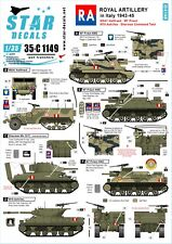 Star Decals 1/35 M7 Priest M3A1 Sherman Command Tank M10 Achilles 35c1149