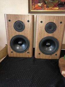 TESTED KLH AV 3000 Front/ Surround/ Bookshelf Speakers - Matched Pair