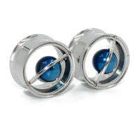 2x Stainless Steel Planet Ear Gauges Tunnel Expander Plug Body Piercing Jewelry