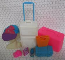 Barbie doll Plane/CRUISE Ship/Travel Agency/Hotel Luggage Suitcase Roller Bag ++