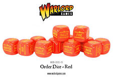BOLT ACTION ORDER DICE - RED - WW2 - SENT FIRST CLASS -