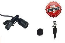 Lavalier Tie Clip Microphone for AKG Samson Wireless 3 Pin Mini XLR (TA3F)