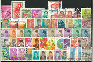 INDONESIA varied group 57 stamps o from upgiven collections