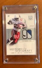 2003 EMMITT SMITH SKYBOX HISTORY OF DRAFT GAME WORN JERSEY CARD: SILVER 25/50