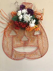 Pumpkin~Jack-O-Lantern~ Wall Hanging~Plaque Halloween Fall Decor