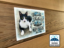 Cat, Dog or any pet Bench plaque, Memorial photo plaque, Personalised design.