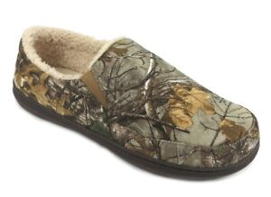 Realtree XTRA Camo George Men's Sherpa Aline Slip-on Clog Slippers Shoes: S-XL