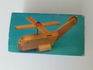 vintage NIP Micki wood toy helicopter