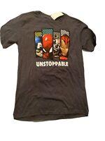 New Boy's Marvel Unstoppable Avengers T-shirt Short Sleeve Shirt Size XL