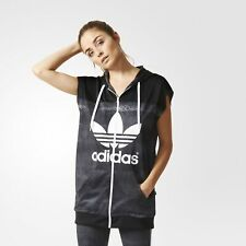 adidas x Rita Ora Womens Mystic Moon Trefoil Track Top Hooded Vest   AA3864