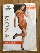 """Mona"" Viola Top Quality 20 Denier Black Tights, Size 2 (UK Small)"