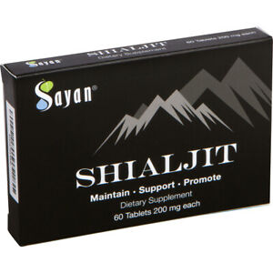 200mg Sayan Pure Natural Altai Shilajit.Tablets - 60 Resin Tabs 1 Month Supply
